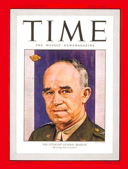 1946-04 General Omar Bradley Copyright Time Magazine | Time Magazine Covers 1923-1970