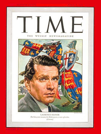 1946-04 Laurence Olivier Copyright Time Magazine | Time Magazine Covers 1923-1970