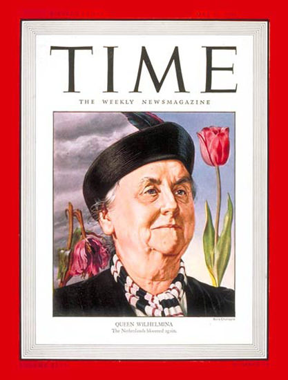 1946-05 Queen Wilhemina Copyright Time Magazine | Time Magazine Covers 1923-1970