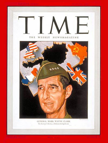 1946-06 General Mark W Clark Copyright Time Magazine | Time Magazine Covers 1923-1970