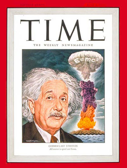 1946-07 Albert Einstein Nuclear Weapon Copyright Time Magazine | Time Magazine Covers 1923-1970