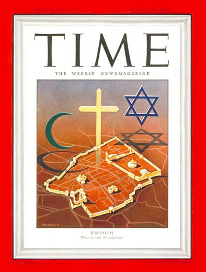 1946-08 Jerusalem Israel Copyright Time Magazine | Time Magazine Covers 1923-1970