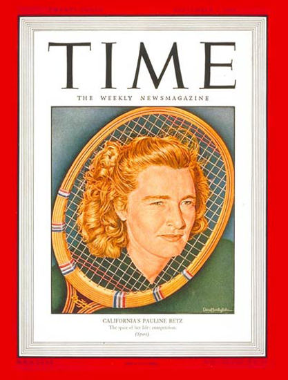 1946-09 Pauline Betz Tennis Copyright Time Magazine | Time Magazine Covers 1923-1970