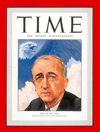 1947-01 James F Byrnes Copyright Time Magazine | Time Magazine Covers 1923-1970