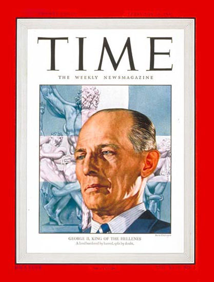 1947-02 King George II Copyright Time Magazine | Time Magazine Covers 1923-1970
