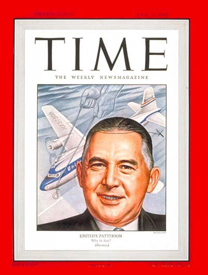 1947-04 William A Patterson Copyright Time Magazine | Time Magazine Covers 1923-1970