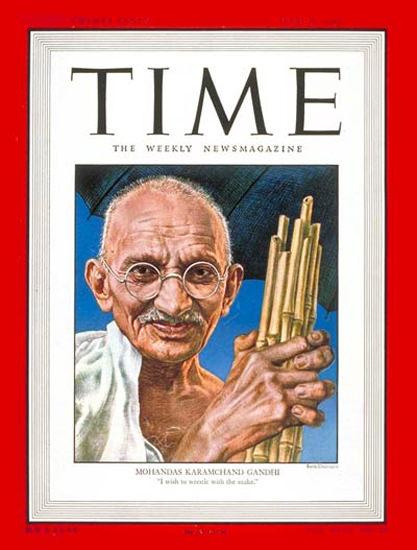 1947-06 Mohandas Gandhi India Copyright Time Magazine   Time Magazine Covers 1923-1970
