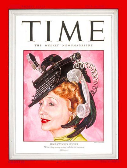 1947-07 Hedda Hopper Copyright Time Magazine | Time Magazine Covers 1923-1970