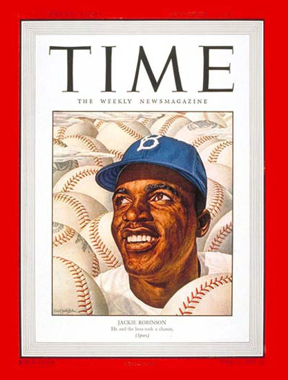 1947-09 Jackie Robinson Baseball Copyright Time Magazine | Time Magazine Covers 1923-1970