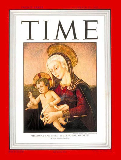 1947-12 Madonna and Child Copyright Time Magazine | Time Magazine Covers 1923-1970