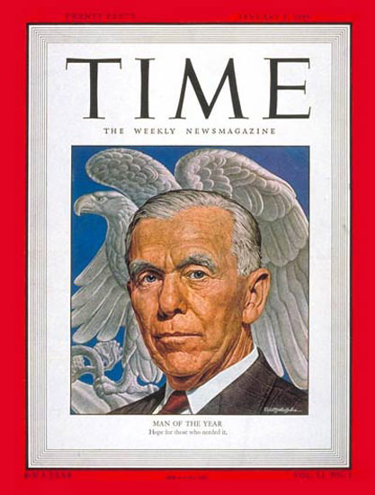 1948-01 George C Marshall Copyright Time Magazine | Time Magazine Covers 1923-1970