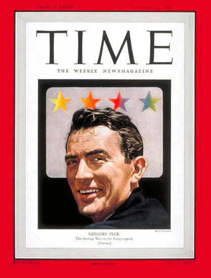 1948-01 Gregory Peck Copyright Time Magazine | Time Magazine Covers 1923-1970