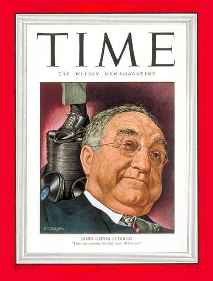 1948-01 James Caesar Petrillo Copyright Time Magazine | Time Magazine Covers 1923-1970