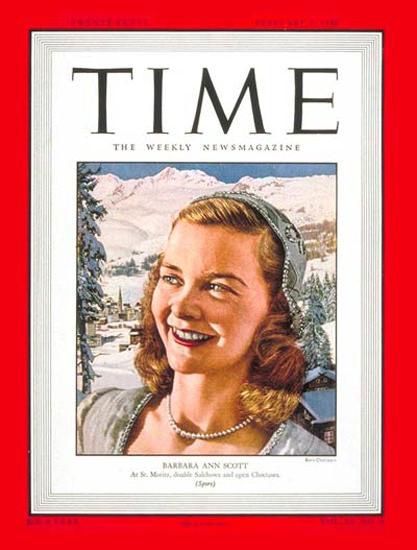 1948-02 Barbara Ann Scott Copyright Time Magazine | Time Magazine Covers 1923-1970