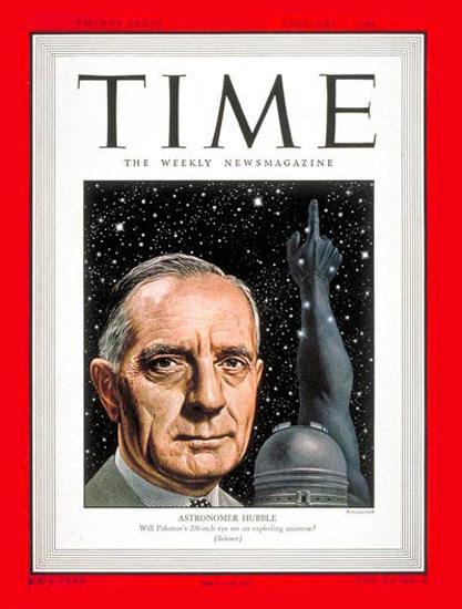 1948-02 Edwin P Hubble Copyright Time Magazine | Time Magazine Covers 1923-1970