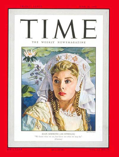 1948-06 Jean Simmons Copyright Time Magazine | Time Magazine Covers 1923-1970