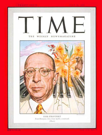 1948-07 Igor Stravinsky Copyright Time Magazine | Time Magazine Covers 1923-1970