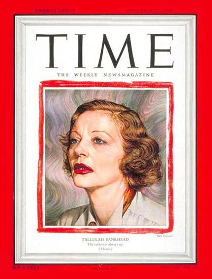 1948-11 Tallulah Bankhead Copyright Time Magazine | Time Magazine Covers 1923-1970