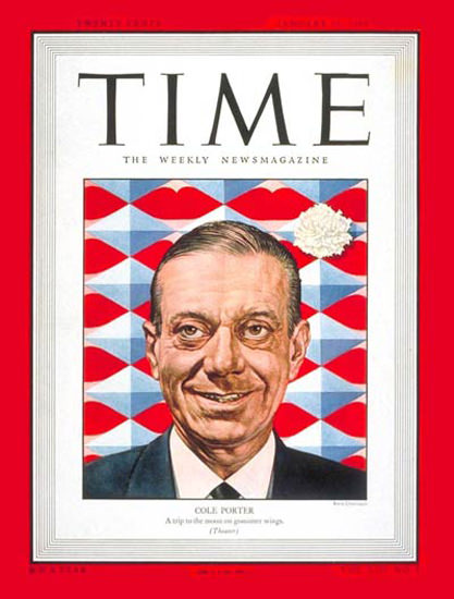 1949-01 Cole Porter Copyright Time Magazine | Time Magazine Covers 1923-1970