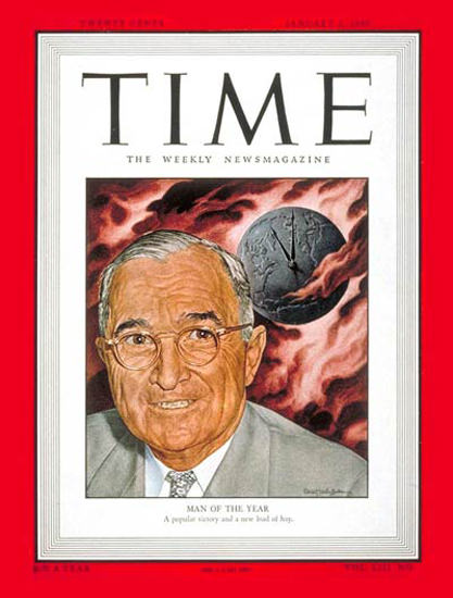 1949-01 Harry S Truman Copyright Time Magazine | Time Magazine Covers 1923-1970