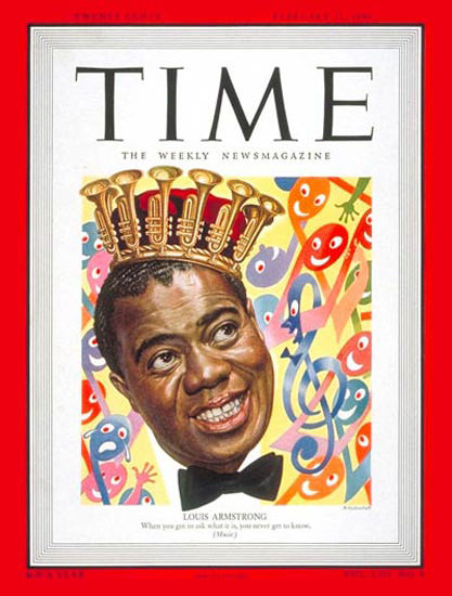 1949-02 Louis Armstrong Copyright Time Magazine | Time Magazine Covers 1923-1970