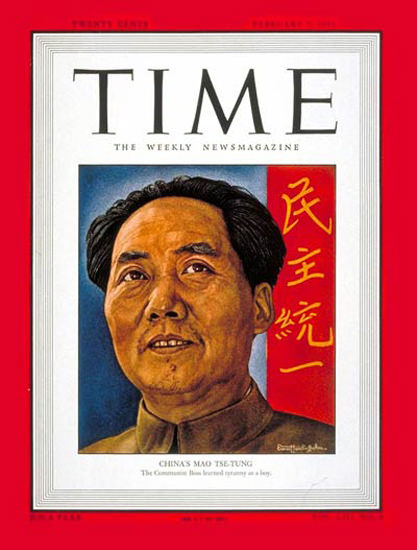 1949-02 Mao Tse-tung Copyright Time Magazine | Time Magazine Covers 1923-1970