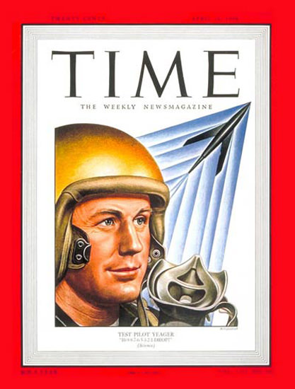 1949-04 Chuck Yeager Copyright Time Magazine | Time Magazine Covers 1923-1970