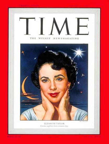 1949-08 Elizabeth Taylor Copyright Time Magazine | Time Magazine Covers 1923-1970