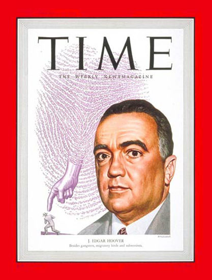 1949-08 J Edgar Hoover Copyright Time Magazine | Time Magazine Covers 1923-1970