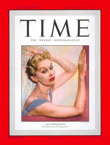 1949-09 Lisa Fonssagrives Copyright Time Magazine | Time Magazine Covers 1923-1970