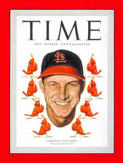 1949-09 Stan Musial Baseball Copyright Time Magazine | Time Magazine Covers 1923-1970