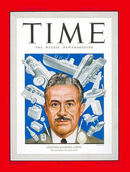 1949-10 Raymond Loewy Copyright Time Magazine | Time Magazine Covers 1923-1970