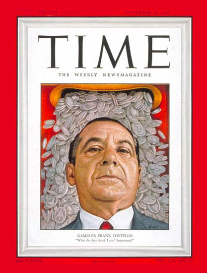 1949-11 Frank Costello Copyright Time Magazine | Time Magazine Covers 1923-1970
