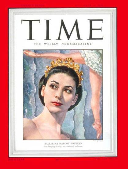 1949-11 Margot Fonteyn Copyright Time Magazine | Time Magazine Covers 1923-1970