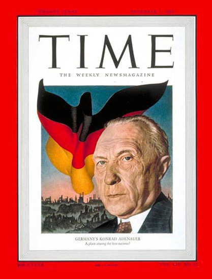 1949-12 Konrad Adenauer Germany Copyright Time Magazine | Time Magazine Covers 1923-1970