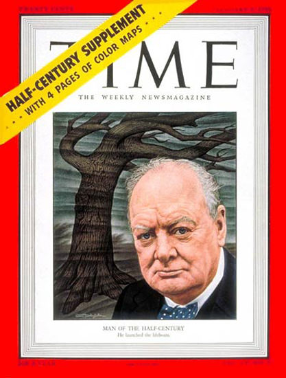 1950-01 Winston Churchill Copyright Time Magazine | Time Magazine Covers 1923-1970