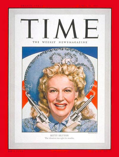 1950-04 Betty Hutton Copyright Time Magazine | Time Magazine Covers 1923-1970