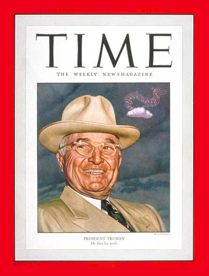 1950-05 Harry S Truman Copyright Time Magazine | Time Magazine Covers 1923-1970