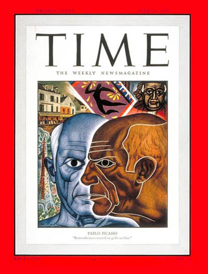 1950-06 Pablo Picasso Copyright Time Magazine | Time Magazine Covers 1923-1970