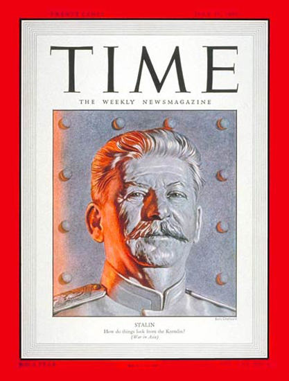 1950-07 Joseph Stalin USSR Copyright Time Magazine | Time Magazine Covers 1923-1970