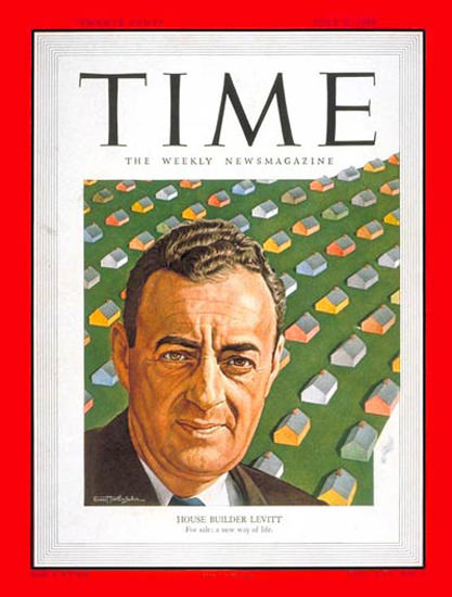 1950-07 William J Levitt Copyright Time Magazine | Time Magazine Covers 1923-1970