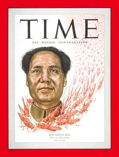 1950-12 Mao Tse-tung Copyright Time Magazine | Time Magazine Covers 1923-1970