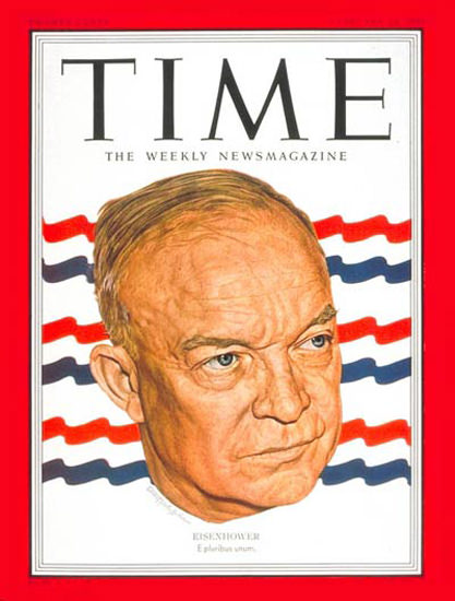 1951-02 Dwight D Eisenhower Copyright Time Magazine | Time Magazine Covers 1923-1970