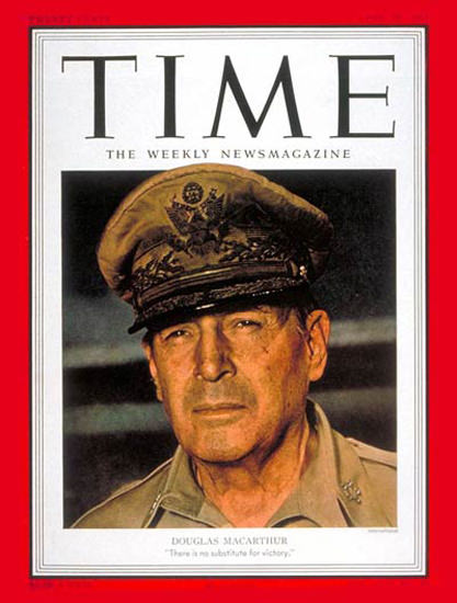 1951-04 General MacArthur Copyright Time Magazine | Time Magazine Covers 1923-1970