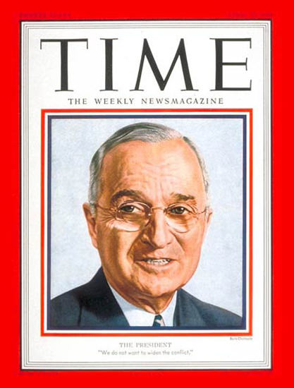 1951-04 Harry S Truman Copyright Time Magazine | Time Magazine Covers 1923-1970