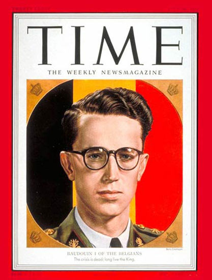 1951-07 King Baudouin I Copyright Time Magazine | Time Magazine Covers 1923-1970