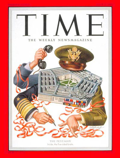 1951-07 The Pentagon Copyright Time Magazine | Time Magazine Covers 1923-1970