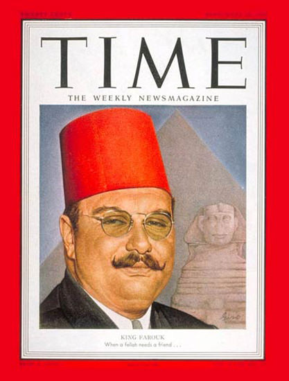 1951-09 King Farouk I Copyright Time Magazine | Time Magazine Covers 1923-1970