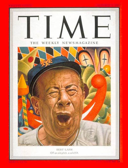 1951-10 Bert Lahr Copyright Time Magazine | Time Magazine Covers 1923-1970