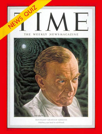 1951-10 Graham Greene Copyright Time Magazine | Time Magazine Covers 1923-1970